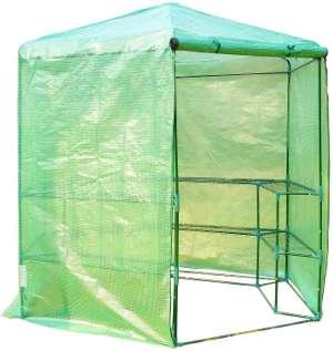 folien-gewaechshaus-gruen-sicherer-stand